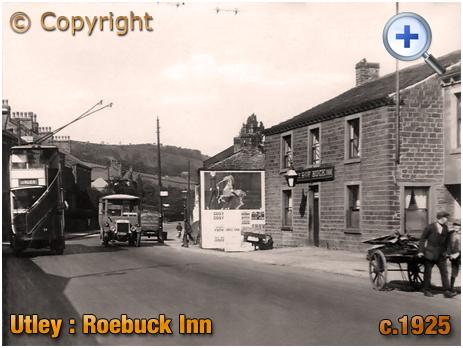 Yorkshire : The Roebuck Inn on Skipton Road at Utley near Keighley [c.1925]