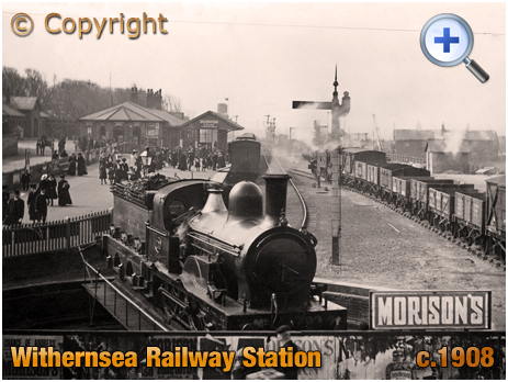 Yorkshire : Withernsea Railway Station with Goods Yard and Coal Depot [c.1908]