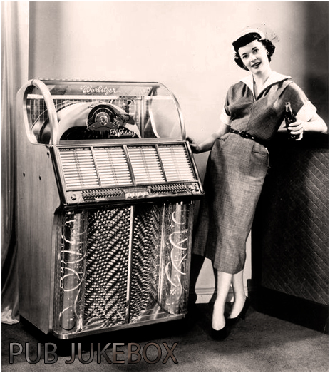 Woman Posing With Jukebox