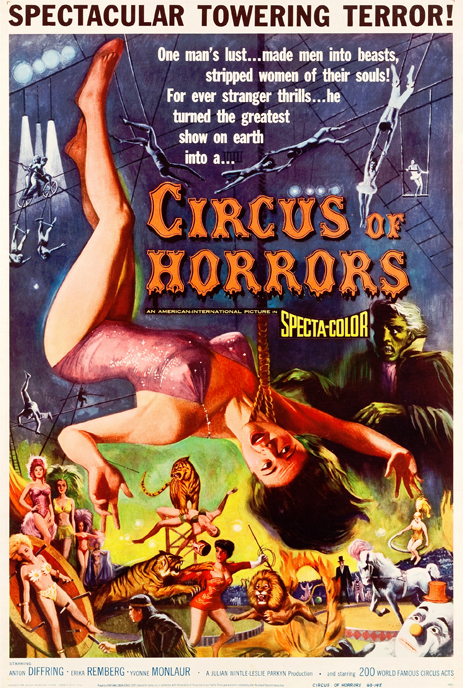 """Film Poster for """"Circus Of Horrors"""" [1960]"""