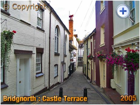Bridgnorth : Castle Terrace from Bank Street [2005]