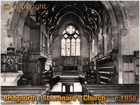 Bridgnorth : Interior of Saint Leonard's Church [c.1958]