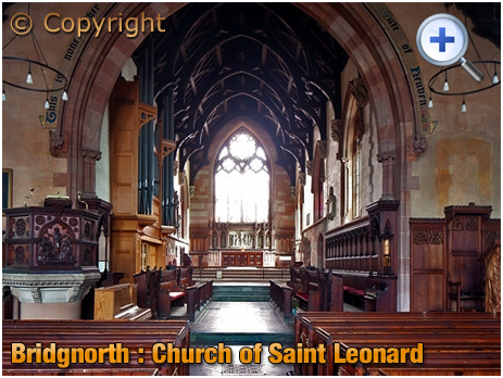 Bridgnorth : Interior of the Church of Saint Leonard [2009]