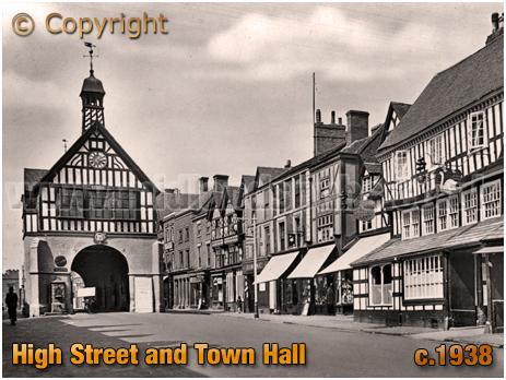 Bridgnorth : High Street and Town Hall [c.1938]