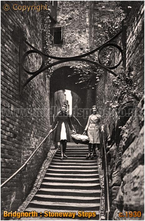 Bridgnorth : Stoneway Steps [c.1930]