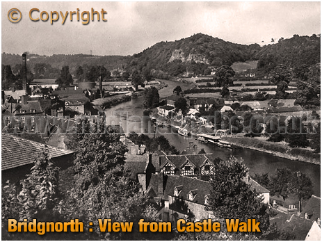 Bridgnorth : View from Castle Walk [c.1958]