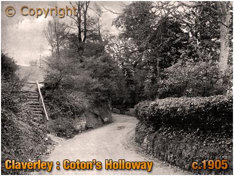 Claverley : Coton's Holloway [c.1905]