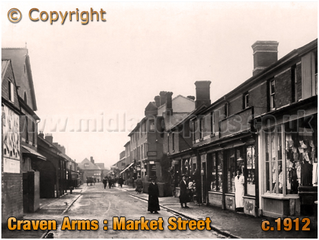 Craven Arms : Market Street [c.1912]