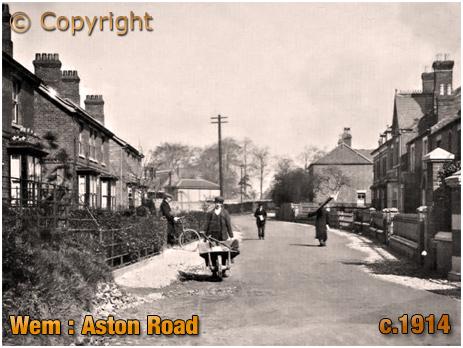 Wem : Aston Road [c.1914]
