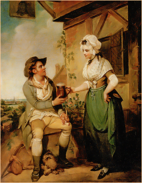 The Alehouse Door by Henry Singleton [c.1790]
