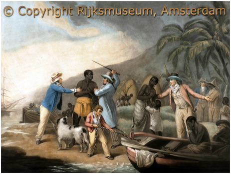 """"""" The Slave Trade"""" by John Raphael Smith after George Morland, 1762-1812, Courtesy of the Rijksmuseum, Amsterdam"""