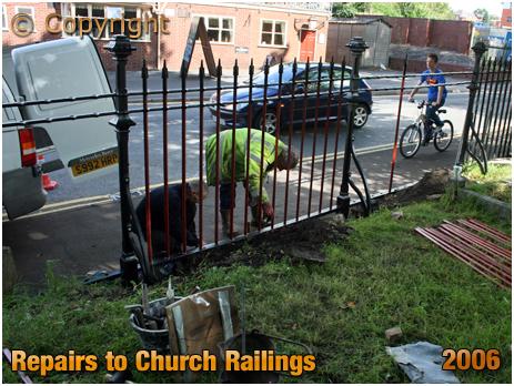 Amblecote : Repair of Railings at Holy Trinity Church [2006]