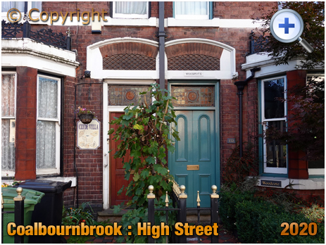 Amblecote : Woodcote No.132 High Street at Coalbournbrook [former home of Walter Wilkes Webb]