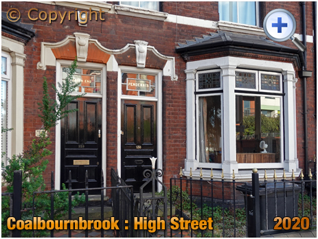 Amblecote : North End and Pendennis on the High Street at Coalbournbrook [2020]