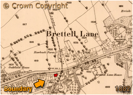 Amblecote : Map Extract showing the Dudley Arms at Brettell Lane [c.1905]