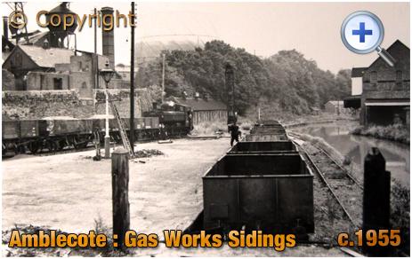 Amblecote : Railway Sidings at the Gas Works [c.1955]