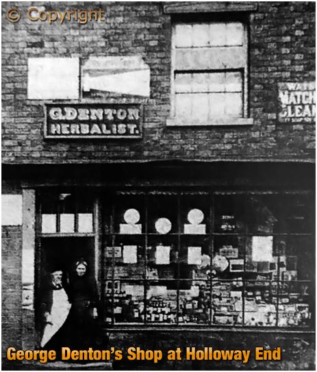 Amblecote : Herbalist George Denton's Shop at Holloway End [c.1905]