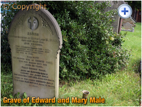 Amblecote : Grave of Edward and Mary Male at Holy Trinity Church