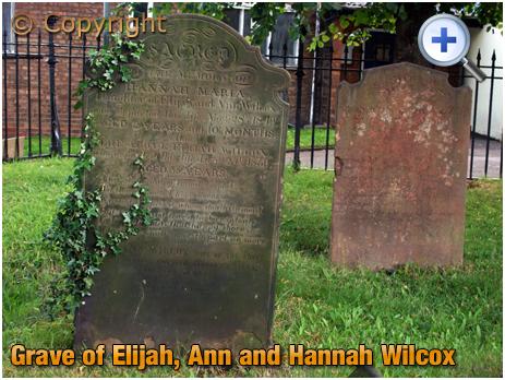 Amblecote : Grave of Elijah, Ann and Hannah Wilcox at Holy Trinity Church