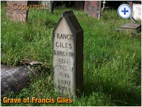 Amblecote : Grave of Francis Giles at Holy Trinity Church