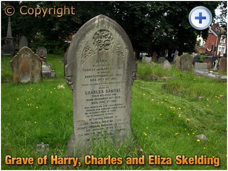 Amblecote : Grave of Harry, Charles and Eliza Skelding at Holy Trinity Church