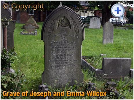 Amblecote : Grave of Joseph and Emma Wilcox at Holy Trinity Church