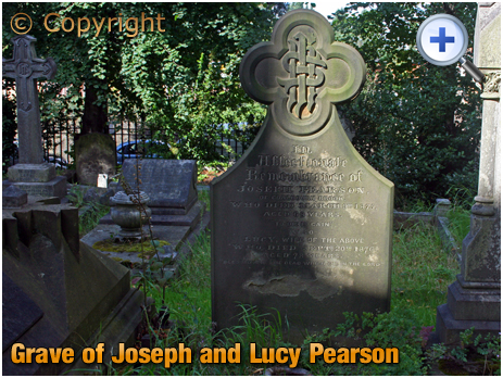 Amblecote : Grave of Joseph and Lucy Pearson at Holy Trinity Church