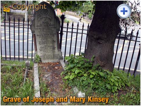 Amblecote : Grave of Joseph and Mary Kinsey at Holy Trinity Church