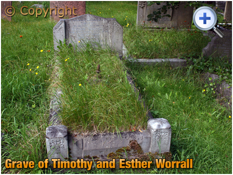 Amblecote : Grave of Timothy and Esther Worrall at Holy Trinity Church