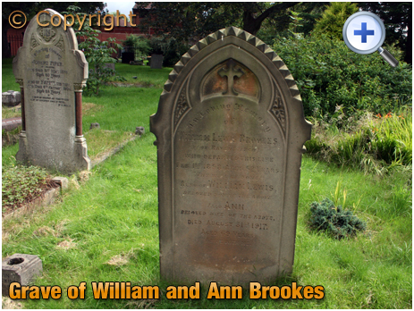 Amblecote : Grave of William and Ann Brookes at Holy Trinity Church