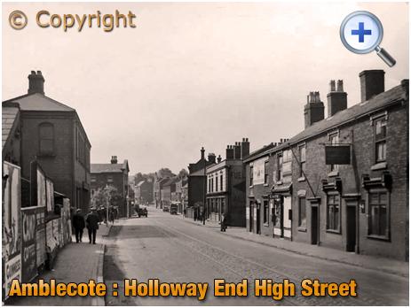 Amblecote : High Street at Holloway End [c.1930]