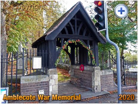 Amblecote : Lychgate and War Memorial at Holy Trinity Church [2020]