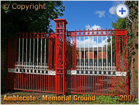 Amblecote : Gates to War Memorial Athletic Ground [2007]