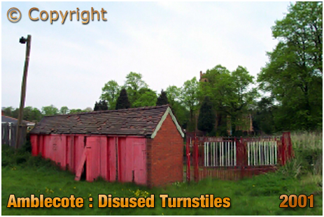 Amblecote : Disused Turnstiles at the War Memorial Athletic Ground [2001]