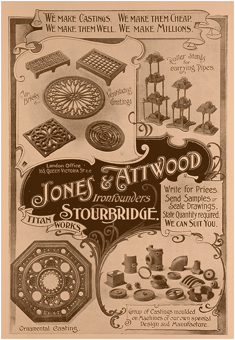 Amblecote : Advertisement for Jones and Attwood [1902]