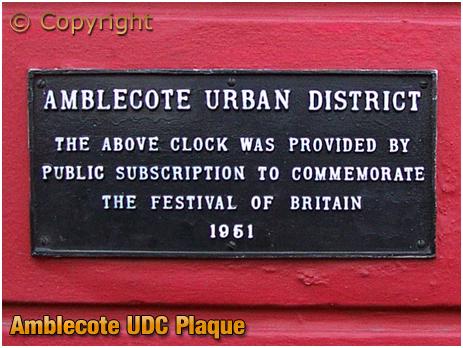 Amblecote Urban District Plaque at the former Fish Inn at Coalbournbrook [2007]