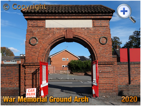Amblecote : Memorial Archway at the War Memorial Athletic Ground [2020]