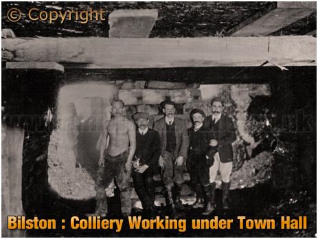 Bilston : Bilston : Colliery Working under Town Hall [c.1906]
