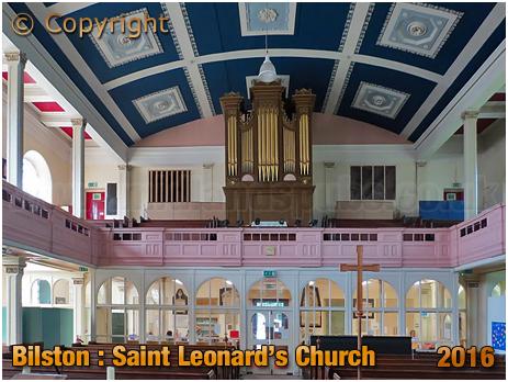 Bilston : Interior of St. Leonard's Church [2016]