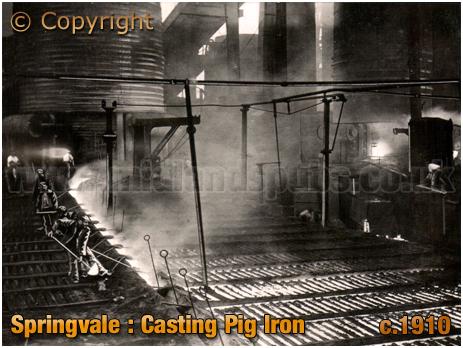 Bilston : Casting Pig Iron [c.1910]