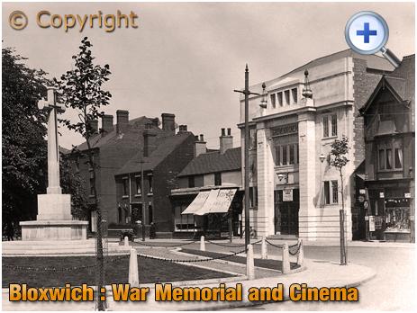 Bloxwich : War Memorial and Cinema [c.1928]