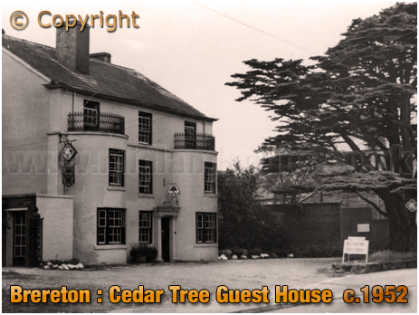 Brereton : Cedar Tree Guest House and Restaurant [c.1952]