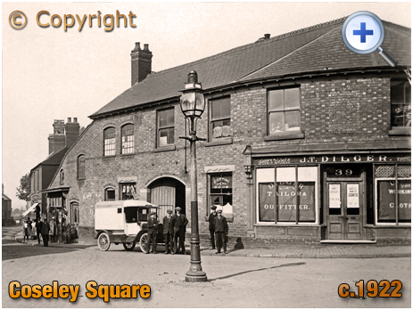 Coseley : The Square with the tailor's shop of Joseph T. Dilger [c.1922]