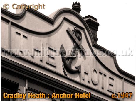 Cradley Heath : Bas Relief at the Anchor Hotel [c.1947]