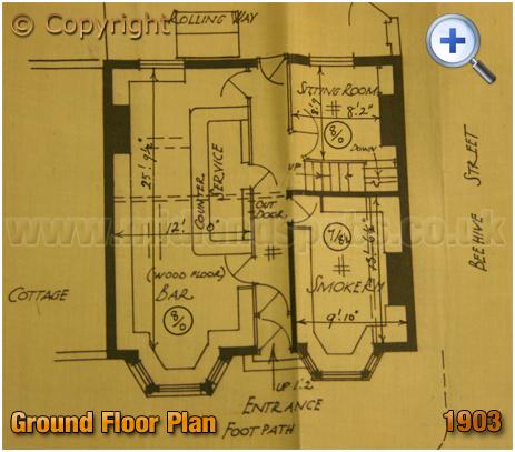 Cradley Heath : Ground Floor Plan of the Beehive Inn on Grainger's Lane [1903]