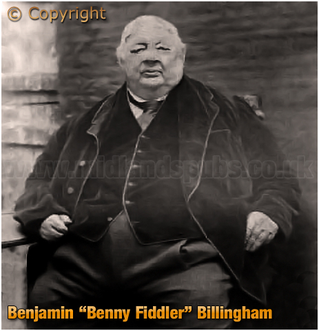 "Cradley Heath : Benjamin ""Benny Fiddler"" Billingham of the Bell Hotel"