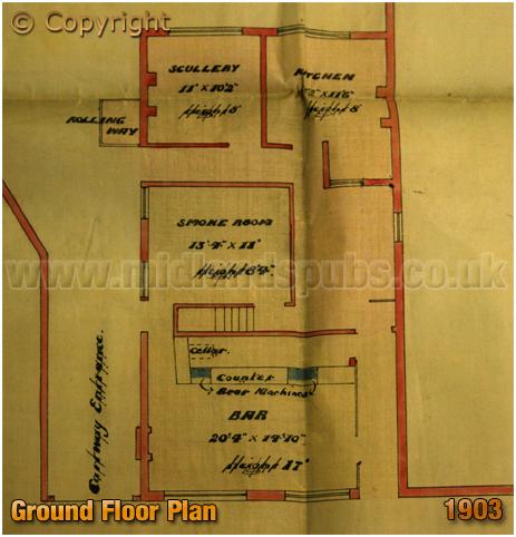Cradley Heath : Ground Floor Plan of the Bell Inn on Scholding Green Road [1903]