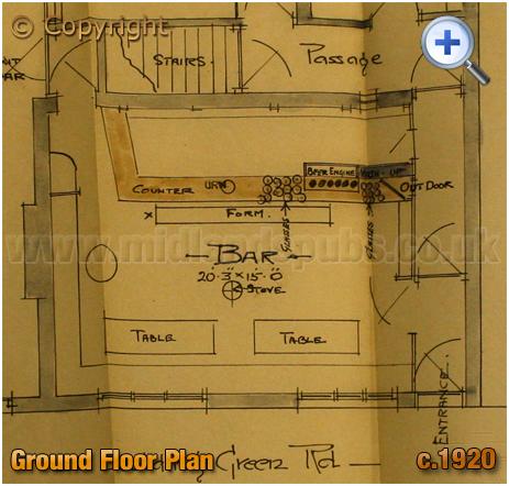 Cradley Heath : Ground Floor Plan of the Bell Inn on Scholding Green Road [c.1920]