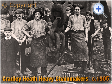 Cradley Heath : Chainmakers in a Factory Yard [c.1905]