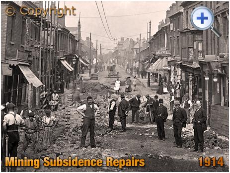 Cradley Heath : Mining Subsidence Repairs in High Street [1914]